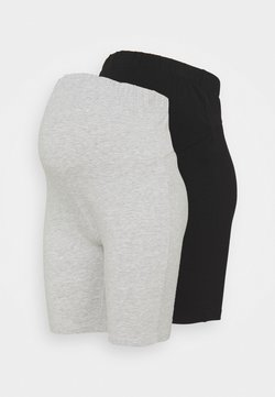 Anna Field MAMA - 2 PACK  - Shorts - black/light grey
