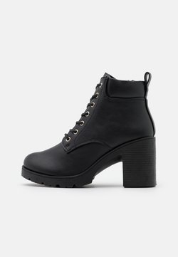 New Look - CALEY HEELED LACE UP - Schnürstiefelette - black