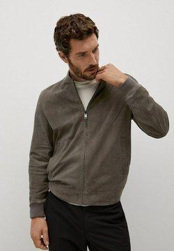 Mango - BRAD - Leather jacket - gris