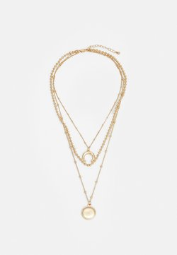 Pieces - PCFLAMINGI COMBI NECKLACE - Necklace - gold-coloured
