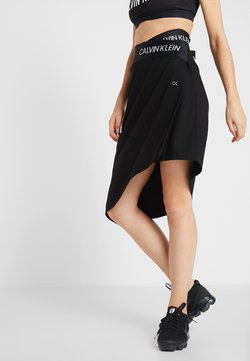 Calvin Klein Performance - ASYMMETRIC SKIRT - Falda de deporte - black
