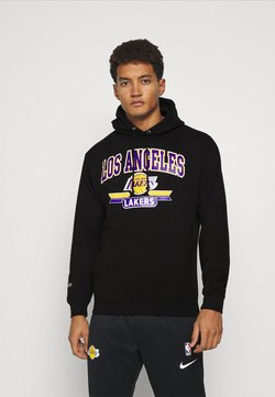 Mitchell & Ness - NBA LA LAKERS ARCH LOGO HOODY - Vereinsmannschaften - black