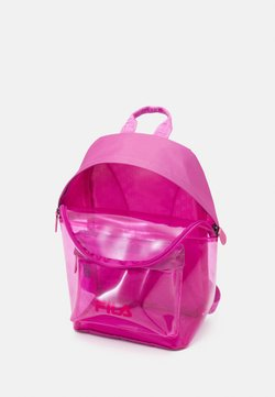 Fila - TRANSPARENT BACKPACK UNISEX - Ryggsäck - super pink