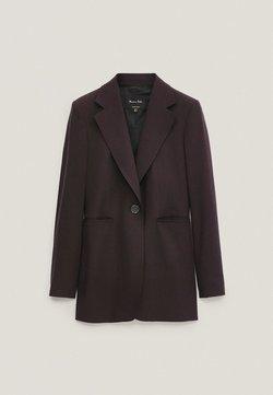 Massimo Dutti - Krótki płaszcz - dark purple