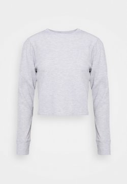 Cotton On Body - CROSS BACK LONG SLEEVE - Camiseta de manga larga - grey marle