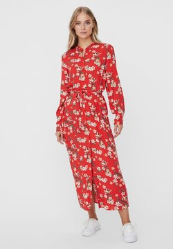Vero Moda - VMSIMPLY EASY LONG DRESS - Abito a camicia - goji berry