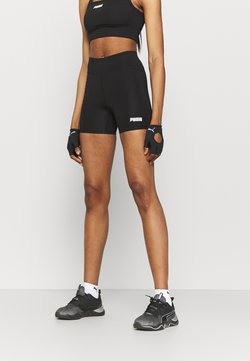 Puma - PAMELA REIF X PUMA MID WAIST SHORT - Tights - black