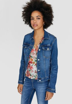 Stradivarius - Veste en jean - blue-black denim