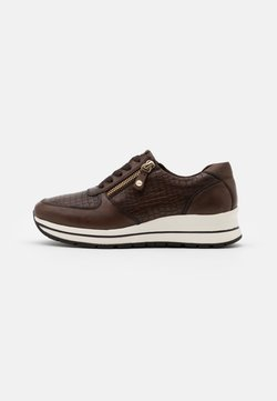 Tamaris Pure Relax - LACE UP - Sneakers laag - cafe/croco