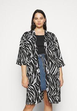 New Look Curves - ZEBRA KIMONO - Leichte Jacke - black