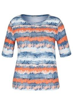 Rabe 1920 - MIT GESTREIFTEM BATIKDRUCK UND STRASS-STEINEN - T-Shirt print - blau