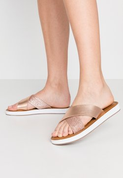 Wallis Wide Fit - WISE - Chaussons - rose gold metallic