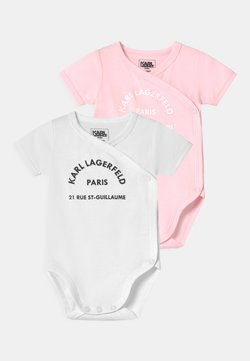 KARL LAGERFELD - BABY 2 PACK - Body - white/pink