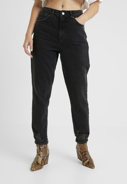 Topshop Petite - MOM    - Jeans baggy - black denim