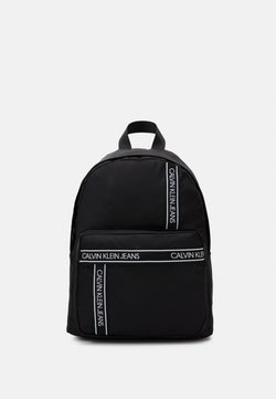 Calvin Klein Jeans - INSTITUTIONAL LOGO BACKPACK - Reppu - black