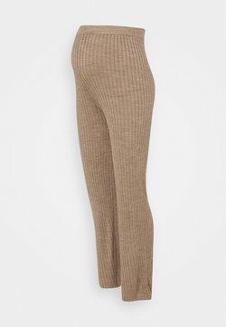 MAMALICIOUS - MLTOWN PANTS - Leggings - beige