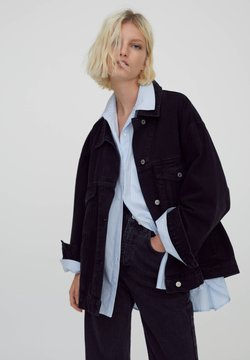 PULL&BEAR - Veste en jean - black