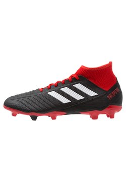 adidas Performance - PREDATOR 18.3 FG - Fußballschuh Nocken - core black/footwear white/red