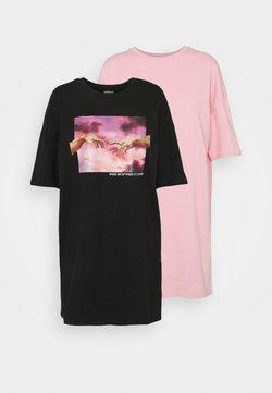 Even&Odd - 2 PACK - Vapaa-ajan mekko - black/pink