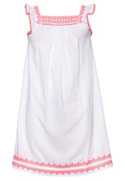 Sunuva - GIRLS EMBROIDERED FLUTTER SLEEVE DRESS - Freizeitkleid - white