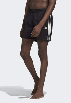 adidas Originals - ADICOLOR CLASSICS 3-STRIPES SWIM SHORTS - Bañador - black