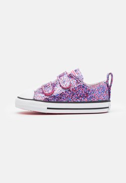 Converse - CHUCK TAYLOR ALL STAR COATED GLITTER - Matalavartiset tennarit - bold pink/white/black