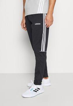 adidas Performance - SERENO AEROREADY TRAINING SPORTS SLIM PANTS - Jogginghose - black/white
