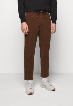 CLOSED - X-LENT TAPERED - Trousers - chocolate brown