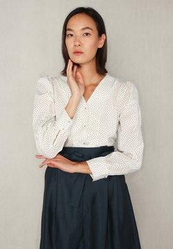 jeeij - ANNE  - Bluse - white dotted