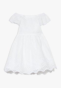 GAP - EYELET DRESS - Freizeitkleid - optic white