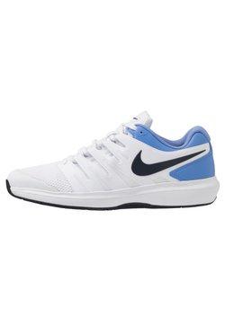Nike Performance - AIR ZOOM PRESTIGE CPT - Zapatillas de tenis para moqueta sintética - white/obsidian/royal pulse