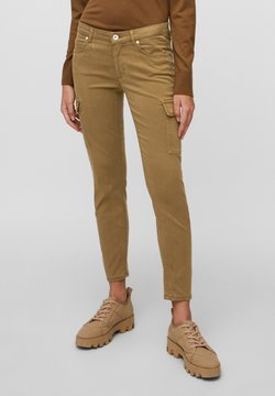 Marc O'Polo - LULEA SLIM MID WAIST  - Jeans Slim Fit - desert camel
