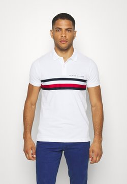 Tommy Hilfiger - GLOBAL CHEST TAPE SLIM - Polo shirt - white
