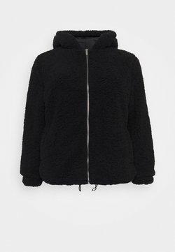 New Look Curves - HOODED CLEO BORG  - Chaqueta de invierno - black