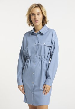 usha - Vestido camisero - blau