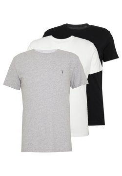 AllSaints - TONIC CREW 3 PACK - Basic T-shirt - optic/black/grey
