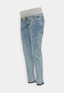 MAMALICIOUS - MLKIRK CROPPED COMFY FIT - Slim fit jeans - blue denim