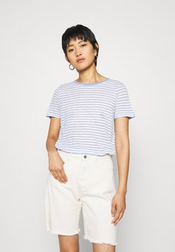 TOM TAILOR - T-Shirt print - blue/offwhite