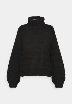 Noisy May - NMWENDY HIGH NECK - Strickpullover - black