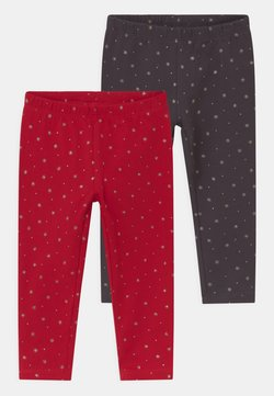 OVS - 2 PACK - Legging - granite gray/true red