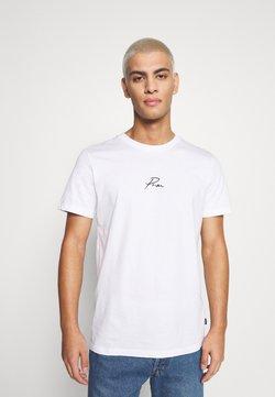 Jack & Jones PREMIUM - JPRBLA TEE CREW NECK - T-shirt z nadrukiem - white