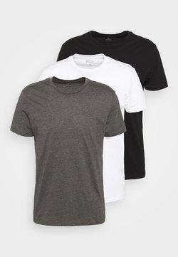 Burton Menswear London - TEE 3 PACK - T-shirt basic - black