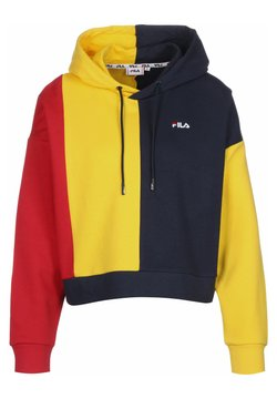 Fila - Sweat à capuche - blk iris/dandelion/true red