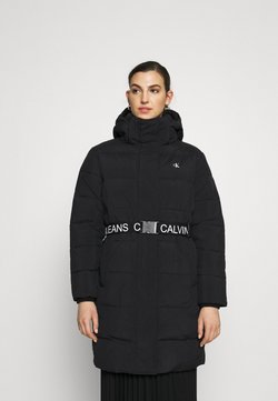 Calvin Klein Jeans - WAISTED LOGO LONG PUFFER - Wintermantel - black
