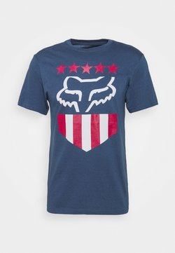 Fox Racing - FREEDOM SHIELD TEE - T-Shirt print - light indigo