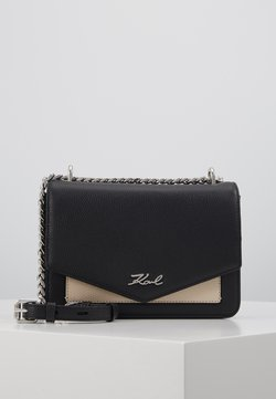 KARL LAGERFELD - POCKET SHOULDER BAG - Torba na ramię - black