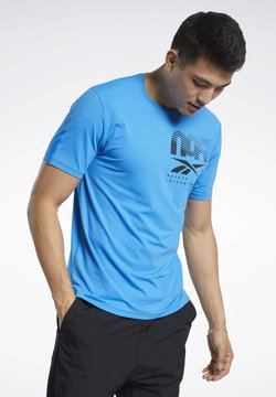 Reebok - ACTIVCHILL GRAPHIC MOVE T-SHIRT - T-Shirt print - blue