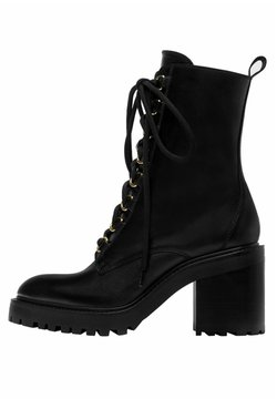 Uterqüe - Bottines à lacets - black