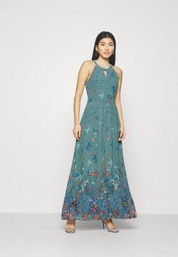 Esprit Collection - PRINT FLOWER - Maxikleid - dark turquoise