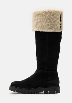 Tommy Jeans - WARM LINED LONG BOOT - Saappaat - black